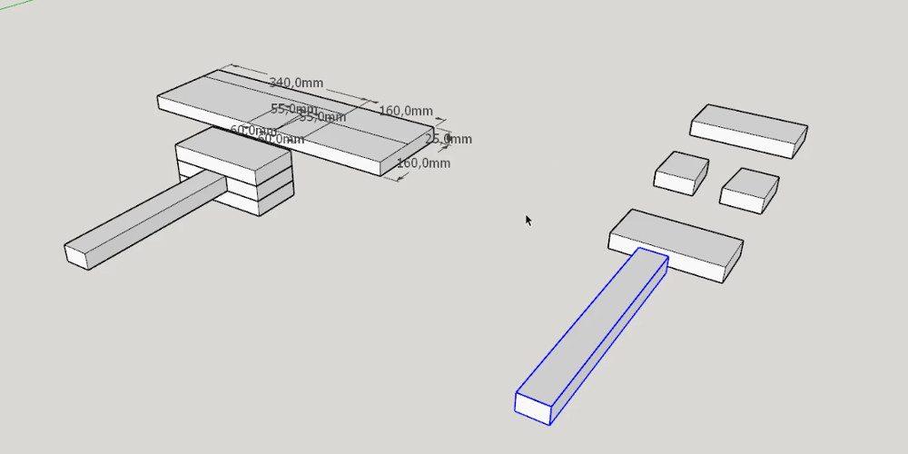 Sketchup Projektowanie Drewnianego Młotka Zrób To Lepiej Sam